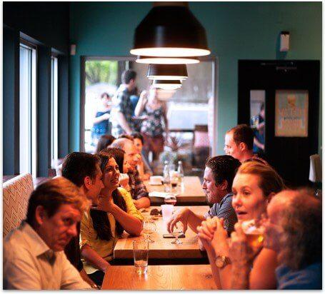 Your customers having dinner in your restaurant